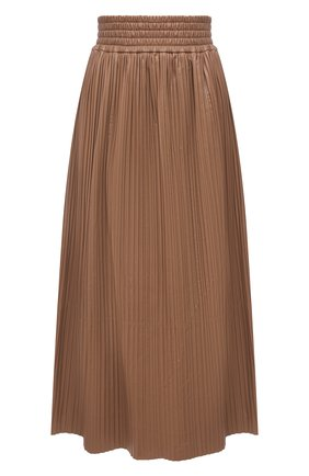 Женская кожаная юбка GABRIELA HEARST бежевого цвета, арт. 221309 L018 | Фото 1