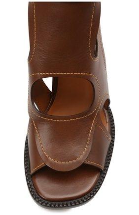 Женские кожаные босоножки gaile CHLOÉ коричневого цвета, арт. CHC21U420L4   Фото 5