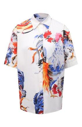Женская хлопковая рубашка MSGM разноцветного цвета, арт. 3042MDE115X 217350 | Фото 1