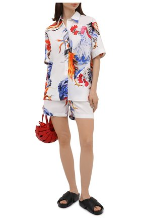 Женская хлопковая рубашка MSGM разноцветного цвета, арт. 3042MDE115X 217350 | Фото 2