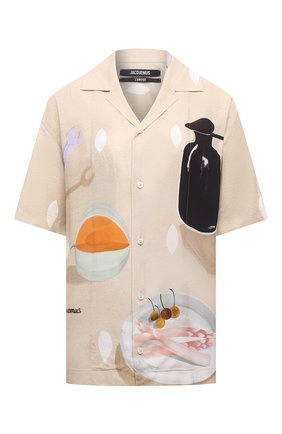 Женская рубашка из вискозы JACQUEMUS бежевого цвета, арт. 215SH21/111853 | Фото 1