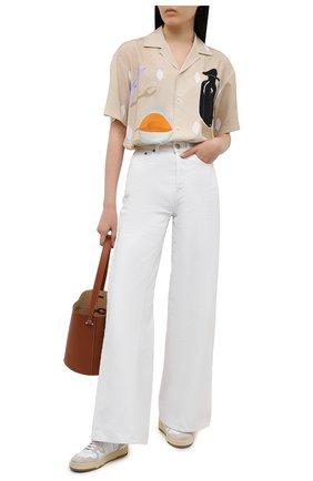 Женская рубашка из вискозы JACQUEMUS бежевого цвета, арт. 215SH21/111853 | Фото 2