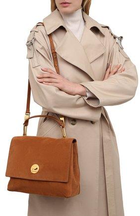 Женская сумка liya suede COCCINELLE коричневого цвета, арт. E1 HD1 18 01 01   Фото 2