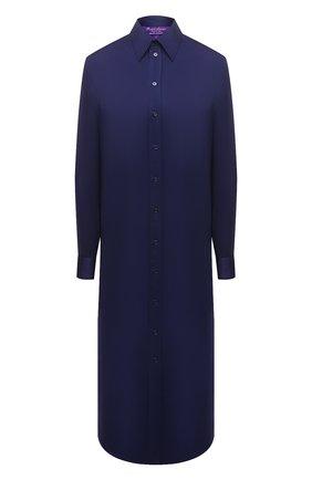Женское платье из вискозы RALPH LAUREN темно-синего цвета, арт. 290849801 | Фото 1