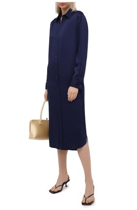 Женское платье из вискозы RALPH LAUREN темно-синего цвета, арт. 290849801 | Фото 2