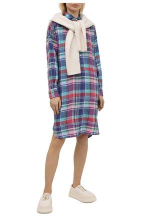 Женское льняное платье POLO RALPH LAUREN разноцветного цвета, арт. 211838197 | Фото 2