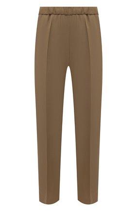 Женские брюки из шерсти и вискозы DRIES VAN NOTEN бежевого цвета, арт. 211-10909-2301 | Фото 1