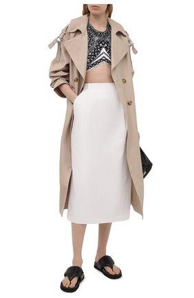 Женская хлопковая юбка DRIES VAN NOTEN белого цвета, арт. 211-10862-2109   Фото 2