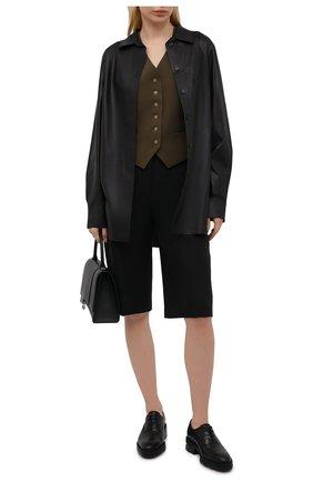 Женская кожаные оксфорды ALEXANDER WANG черного цвета, арт. 30C2200110 | Фото 2