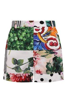 Женские хлопковые шорты DOLCE & GABBANA разноцветного цвета, арт. FTASXT/GDX82 | Фото 1