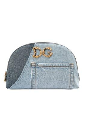 Женская текстильная косметичка dg girls DOLCE & GABBANA синего цвета, арт. BI2924/A0621   Фото 1
