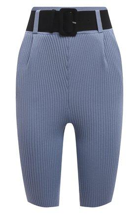 Женские шорты из вискозы SELF-PORTRAIT голубого цвета, арт. SS21-067   Фото 1 (Материал внешний: Синтетический материал, Вискоза; Кросс-КТ: Трикотаж; Стили: Гламурный; Женское Кросс-КТ: Шорты-одежда; Длина Ж (юбки, платья, шорты): Мини)