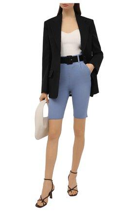 Женские шорты из вискозы SELF-PORTRAIT голубого цвета, арт. SS21-067   Фото 2 (Материал внешний: Синтетический материал, Вискоза; Кросс-КТ: Трикотаж; Стили: Гламурный; Женское Кросс-КТ: Шорты-одежда; Длина Ж (юбки, платья, шорты): Мини)
