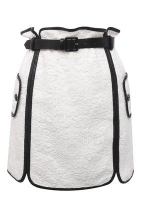 Женская юбка SELF-PORTRAIT белого цвета, арт. SS21-073 | Фото 1