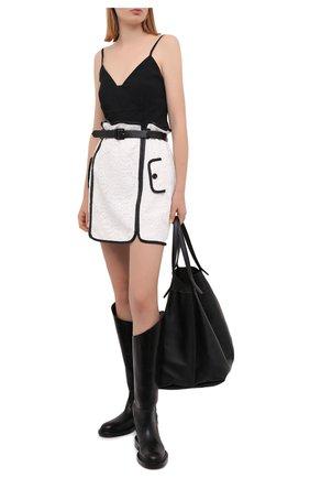 Женская юбка SELF-PORTRAIT белого цвета, арт. SS21-073 | Фото 2