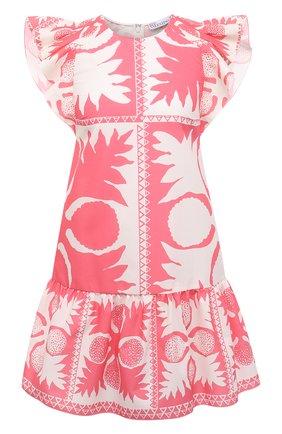 Женское платье REDVALENTINO светло-розового цвета, арт. VR0VAAD0/5SA   Фото 1 (Случай: Повседневный; Материал внешний: Синтетический материал, Хлопок; Рукава: Короткие; Стили: Романтичный; Женское Кросс-КТ: Платье-одежда; Длина Ж (юбки, платья, шорты): Мини)