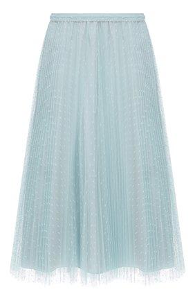 Женская плиссированная юбка REDVALENTINO голубого цвета, арт. VR0RAC20/428   Фото 1