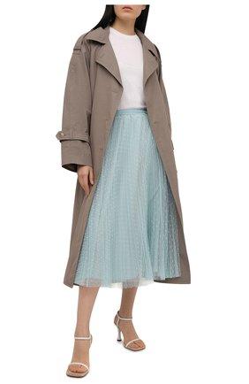 Женская плиссированная юбка REDVALENTINO голубого цвета, арт. VR0RAC20/428   Фото 2