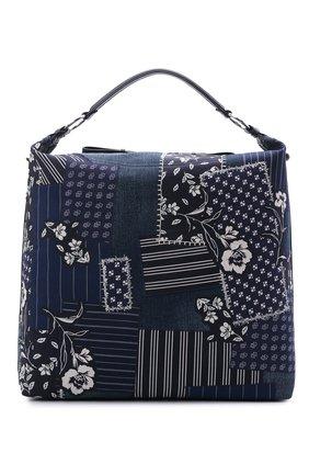 Женский сумка RALPH LAUREN синего цвета, арт. 435841239 | Фото 1 (Размер: large; Сумки-технические: Сумки-шопперы; Материал: Текстиль; Ремень/цепочка: На ремешке)