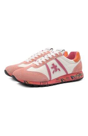 Женские комбинированные кроссовки lucyd PREMIATA розового цвета, арт. LUCYD/VAR5100 | Фото 1