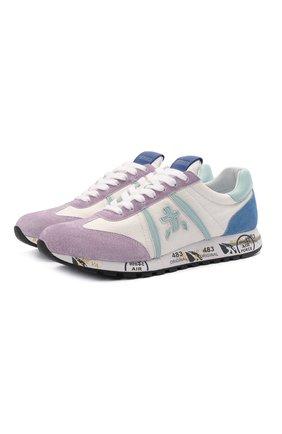Женские комбинированные кроссовки lucyd PREMIATA фиолетового цвета, арт. LUCYD/VAR5101 | Фото 1