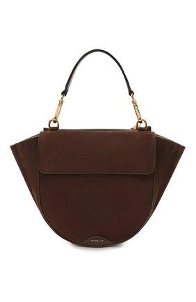 Женская сумка hortensia mini WANDLER коричневого цвета, арт. H0RTENSIA BAG MINI   Фото 1