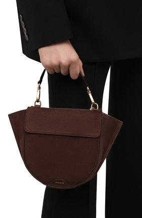 Женская сумка hortensia mini WANDLER коричневого цвета, арт. H0RTENSIA BAG MINI   Фото 2