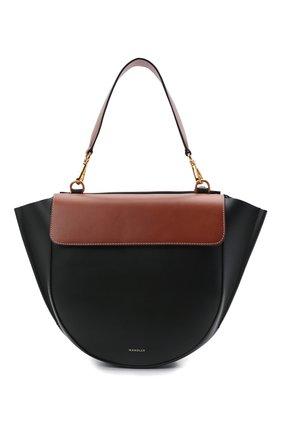 Женская сумка hortensia medium WANDLER черного цвета, арт. H0RTENSIA BAG MEDIUM   Фото 1