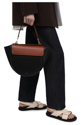Женская сумка hortensia medium WANDLER черного цвета, арт. H0RTENSIA BAG MEDIUM   Фото 2