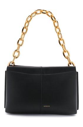 Женская сумка carly chain mini WANDLER черного цвета, арт. CARLY MINI HEAVY CHAIN   Фото 1 (Сумки-технические: Сумки top-handle; Материал: Натуральная кожа; Размер: mini)