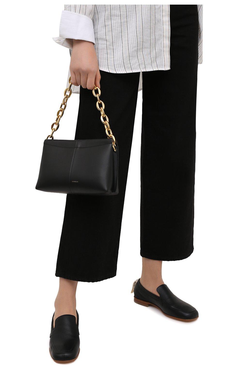 Женская сумка carly chain mini WANDLER черного цвета, арт. CARLY MINI HEAVY CHAIN   Фото 2 (Сумки-технические: Сумки top-handle; Материал: Натуральная кожа; Размер: mini)