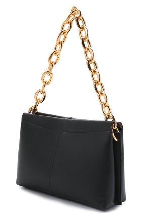Женская сумка carly chain mini WANDLER черного цвета, арт. CARLY MINI HEAVY CHAIN   Фото 3 (Сумки-технические: Сумки top-handle; Материал: Натуральная кожа; Размер: mini)