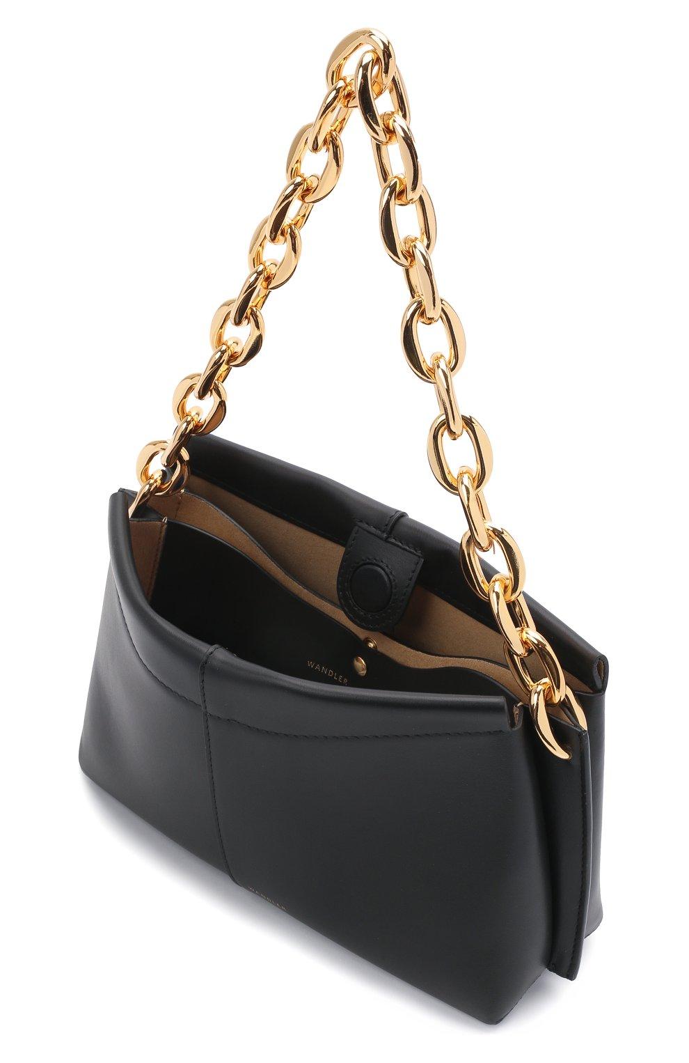 Женская сумка carly chain mini WANDLER черного цвета, арт. CARLY MINI HEAVY CHAIN   Фото 4 (Сумки-технические: Сумки top-handle; Материал: Натуральная кожа; Размер: mini)