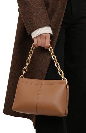 Женская сумка carly chain mini WANDLER коричневого цвета, арт. CARLY MINI HEAVY CHAIN   Фото 2