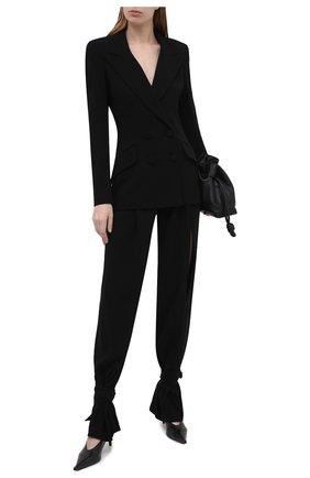 Женские брюки MONOT черного цвета, арт. PF2021TR01 | Фото 2