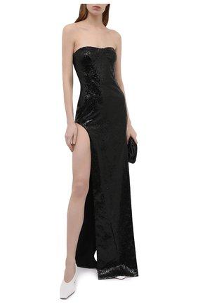 Женское платье с пайетками MONOT черного цвета, арт. PF2021DR06 | Фото 2