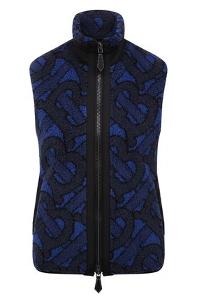 Женский жилет BURBERRY темно-синего цвета, арт. 8039227 | Фото 1