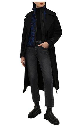 Женский жилет BURBERRY темно-синего цвета, арт. 8039227 | Фото 2