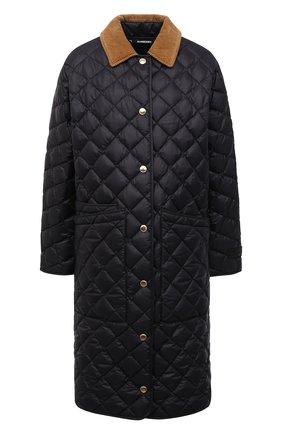 Женская пуховая куртка BURBERRY черного цвета, арт. 8038243 | Фото 1