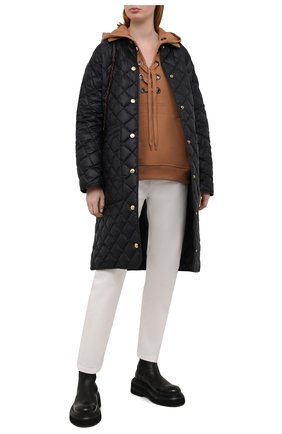 Женская пуховая куртка BURBERRY черного цвета, арт. 8038243 | Фото 2