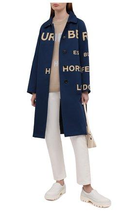 Женский шерстяной пуловер BURBERRY бежевого цвета, арт. 8040224   Фото 2