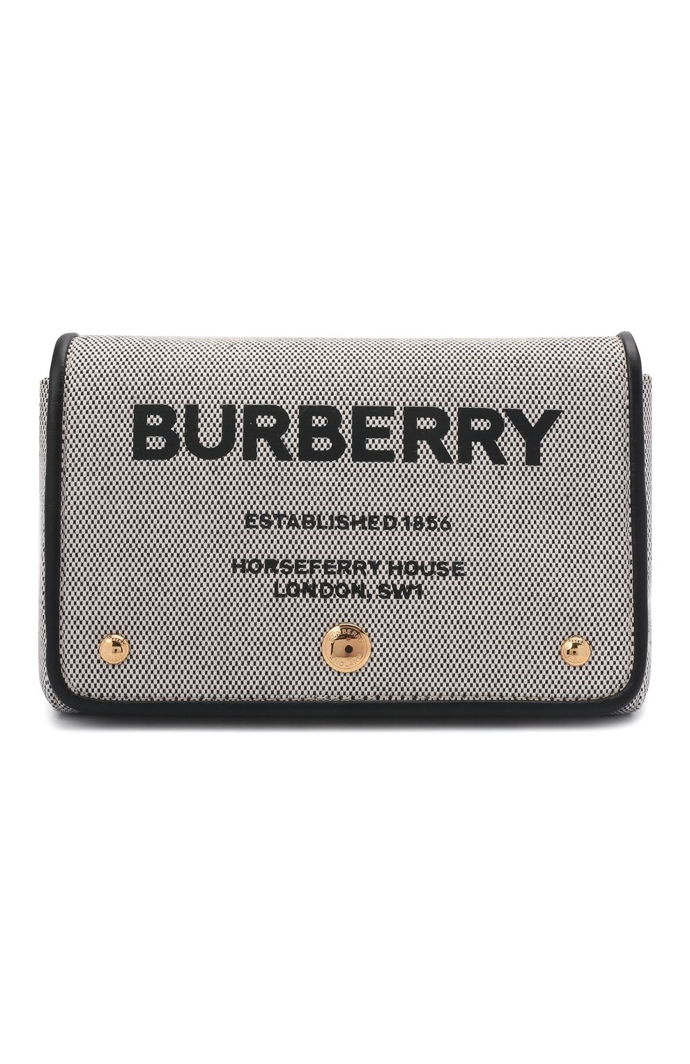 Женская сумка hackberry BURBERRY черно-белого цвета, арт. 8039869   Фото 1