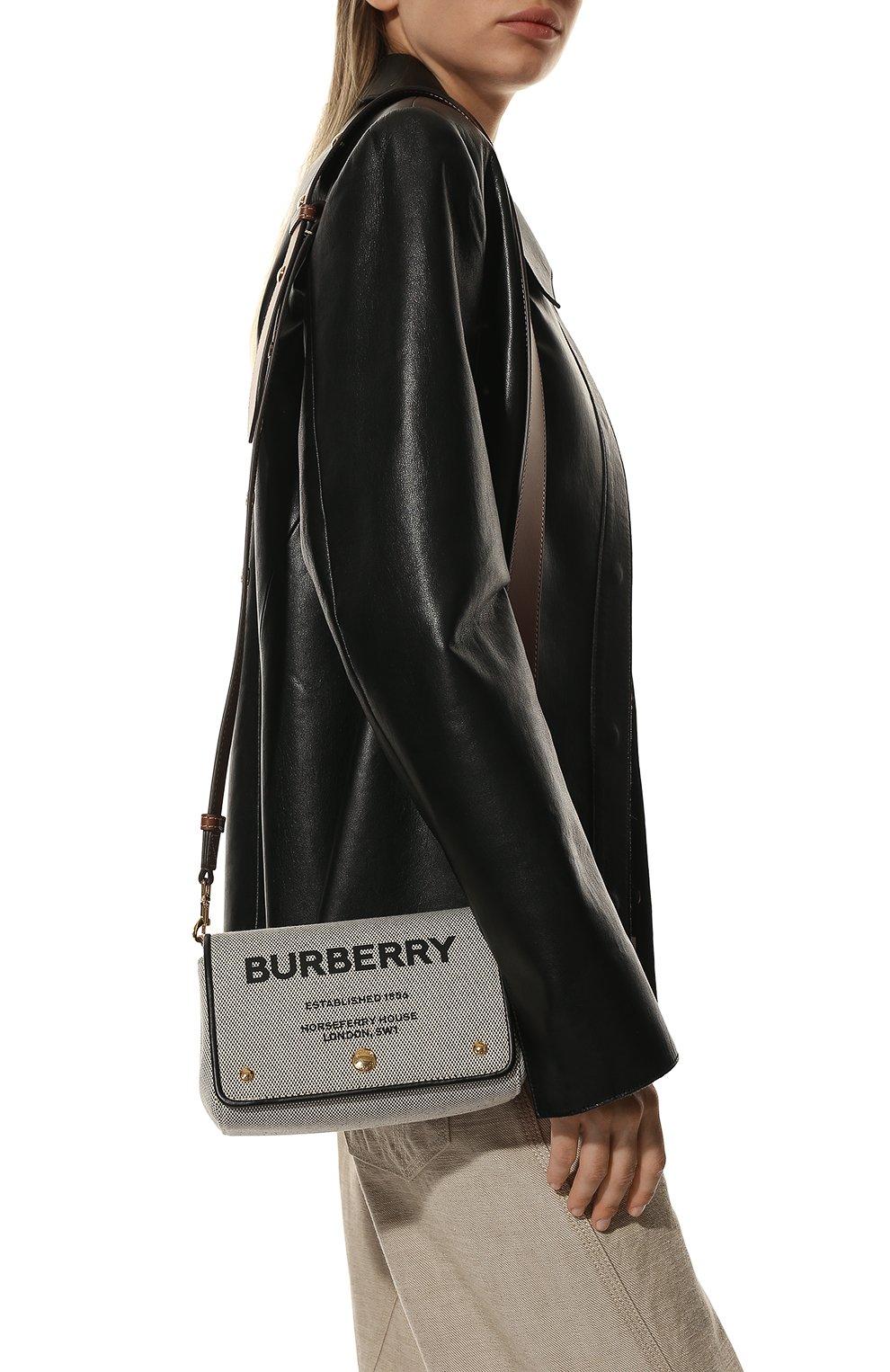 Женская сумка hackberry BURBERRY черно-белого цвета, арт. 8039869   Фото 2
