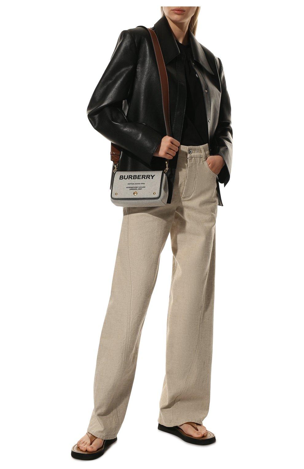 Женская сумка hackberry BURBERRY черно-белого цвета, арт. 8039869   Фото 3