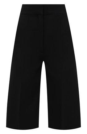Женские хлопковые шорты-бермуды BURBERRY черного цвета, арт. 8039287 | Фото 1
