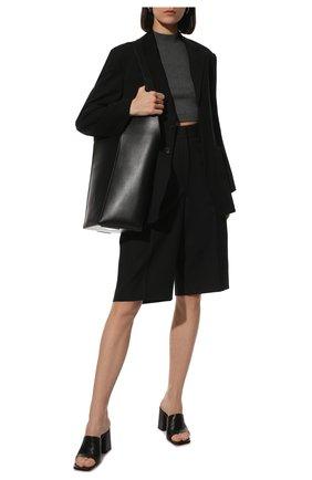 Женские хлопковые шорты-бермуды BURBERRY черного цвета, арт. 8039287 | Фото 2