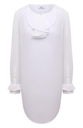 Женская хлопковая блузка BURBERRY белого цвета, арт. 8039118 | Фото 1