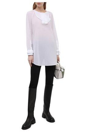 Женская хлопковая блузка BURBERRY белого цвета, арт. 8039118 | Фото 2