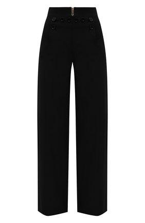Женские хлопковые брюки BURBERRY черного цвета, арт. 8039053 | Фото 1