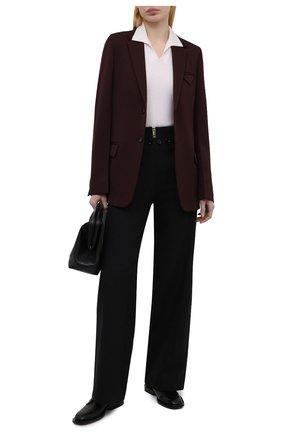 Женские хлопковые брюки BURBERRY черного цвета, арт. 8039053 | Фото 2